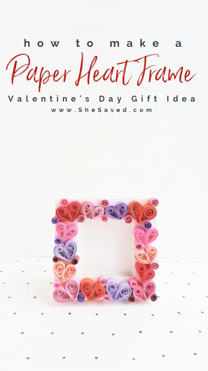 Homemade Quilled Heart Frame Gift Idea