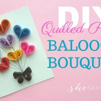 Paper Quilling Craft: Quilled Hearts Balloon Bouquet