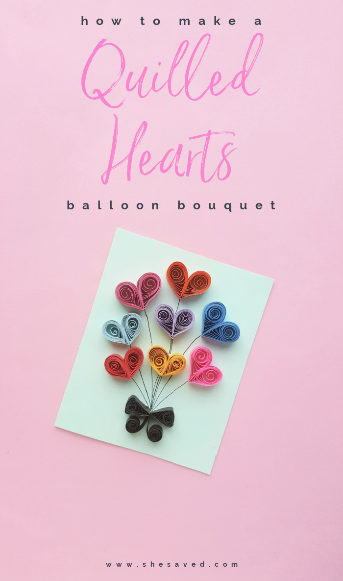 Quilled Hearts Bouquet