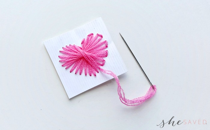 Valentine's Day DIY Heart String Art craft
