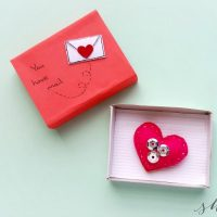 Valentine's Day Craft: Heart Plush in Matchbox