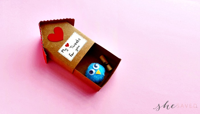 DIY Paper Craft Birdhouse Valentine