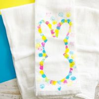 DIY Easy Easter Bunny Tea Towel Craft