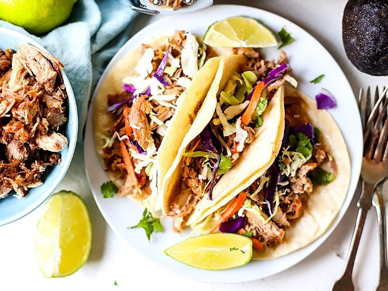 Crock Pot Pulled Pork Tacos from Suburban Simplicity