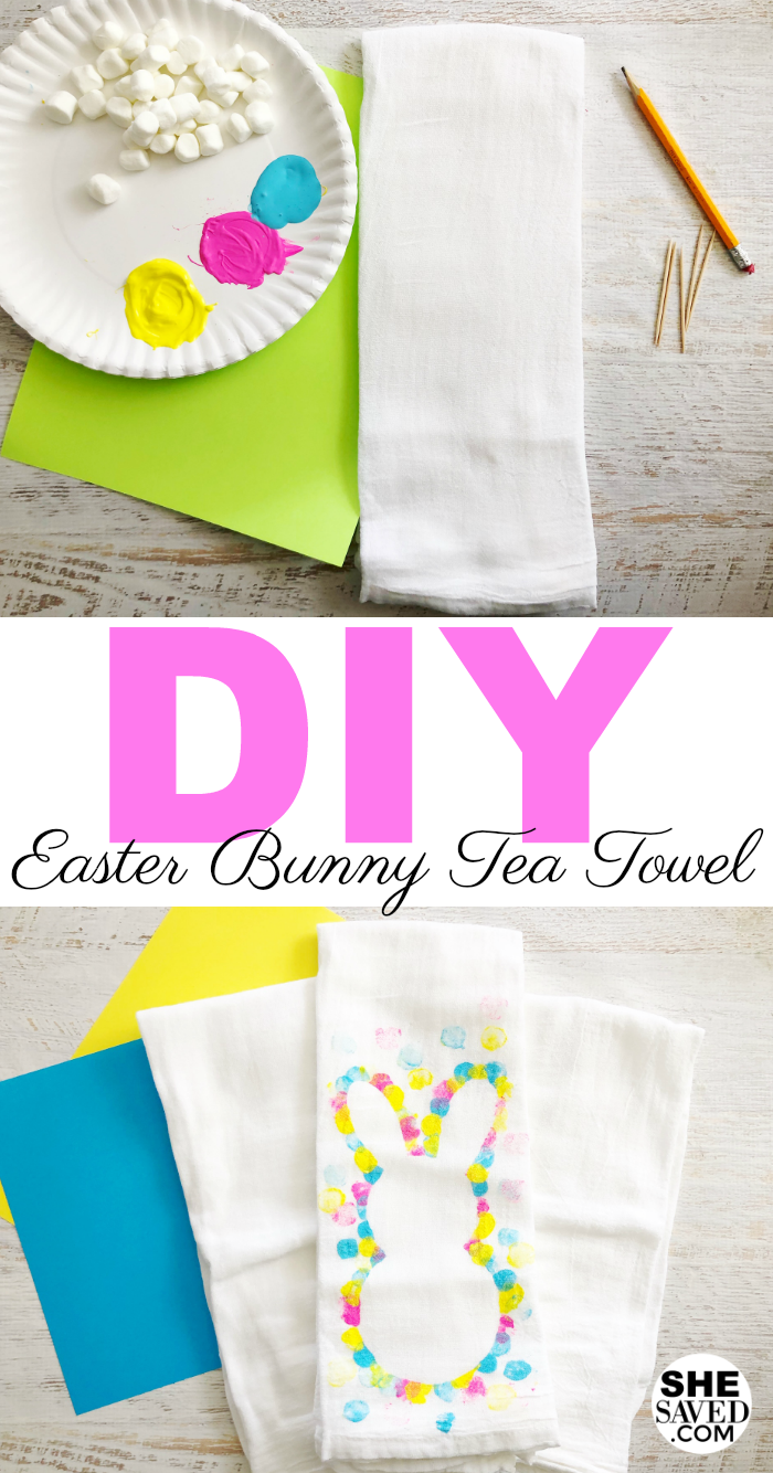Easy DIY Easter Bunny Tea Towel craft project