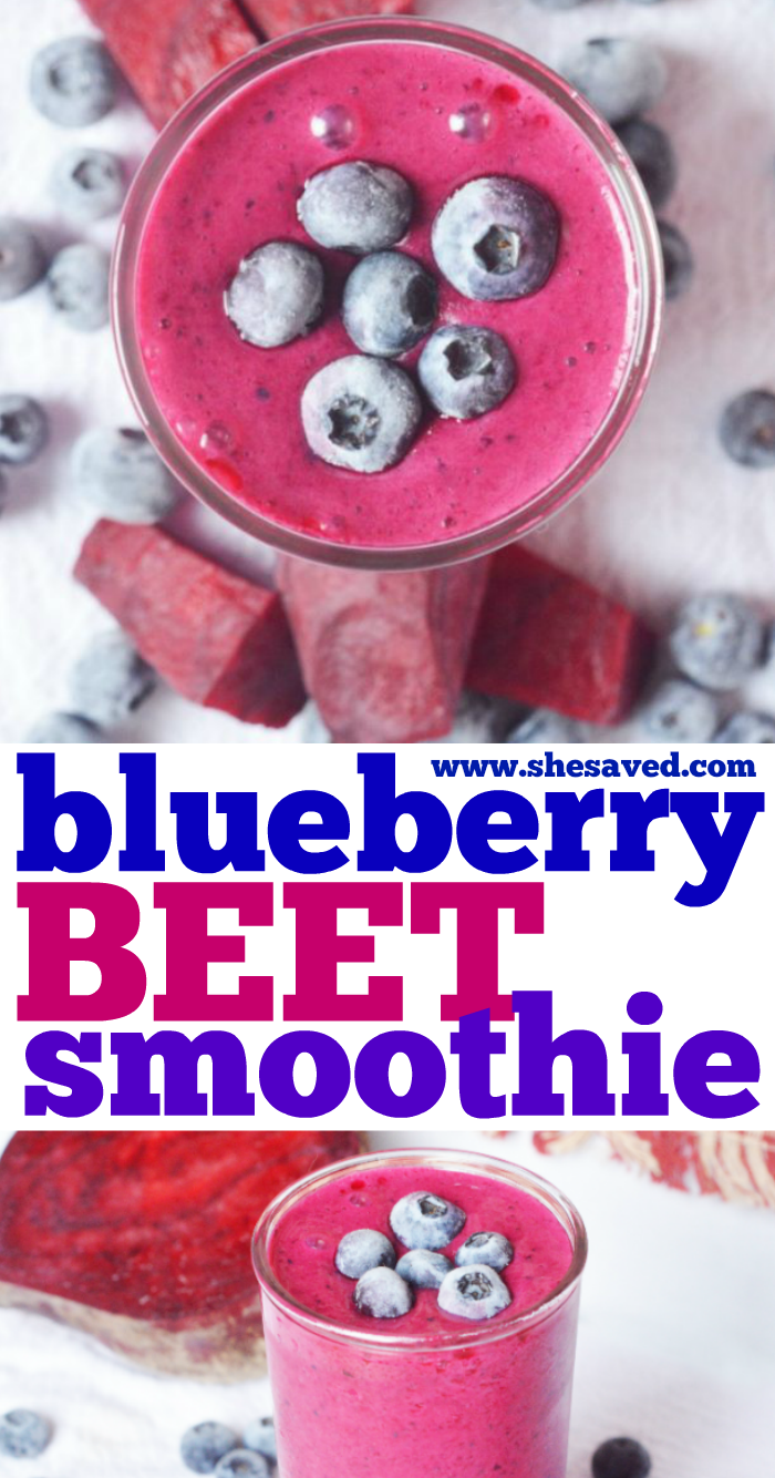 Easy to make Blueberry Beet Smoothie recipe