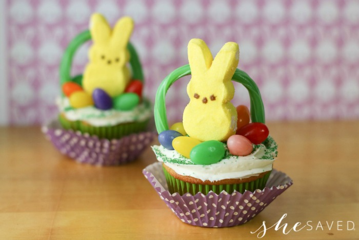 Cupcakes made with Peeps