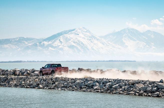 Off road in the 2019 GMC Sierra ATV4