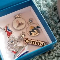 Limited Edition Carnival Cruise Charm Necklace & Bracelet Set