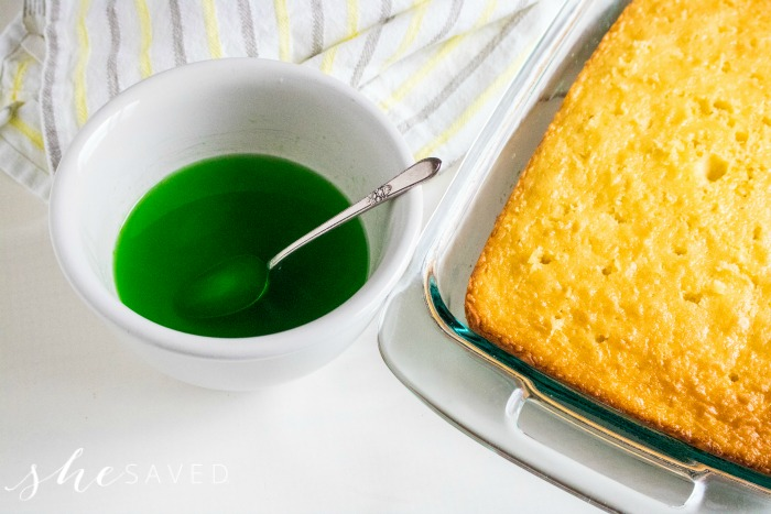 Lime Jello for Poke Cake