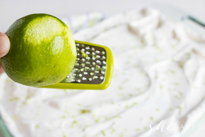 Lime Zest for Poke Cake