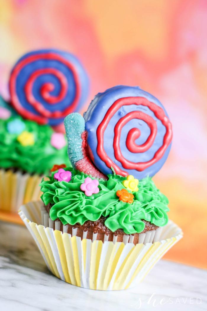 Cute Snail Cupcake
