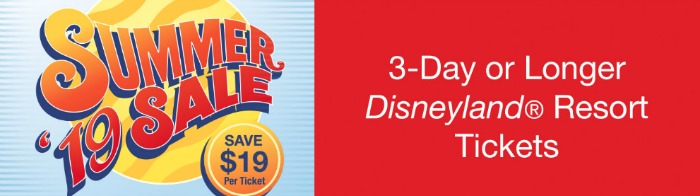 Disneyland Summer 2019 Sale