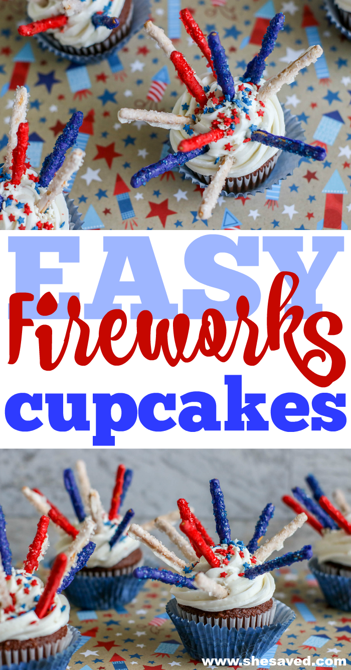 Easy Fireworks Cupcakes