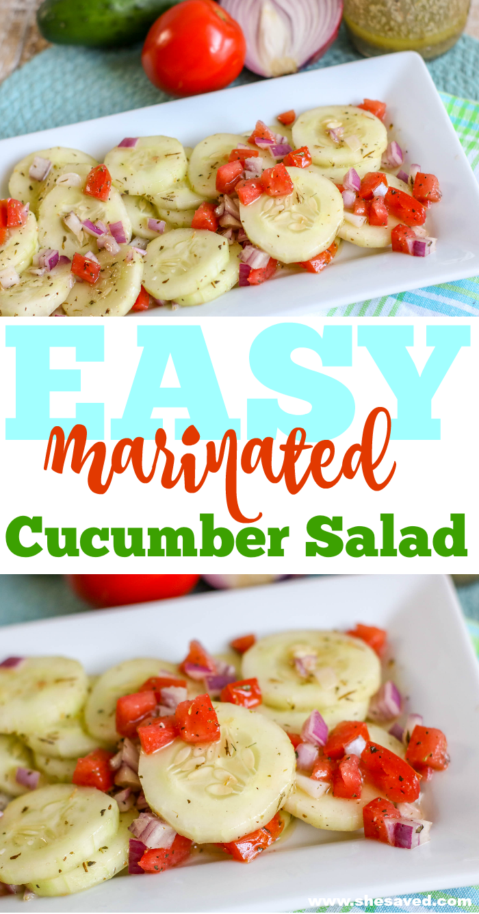 Easy Marinated Cucumber Salad