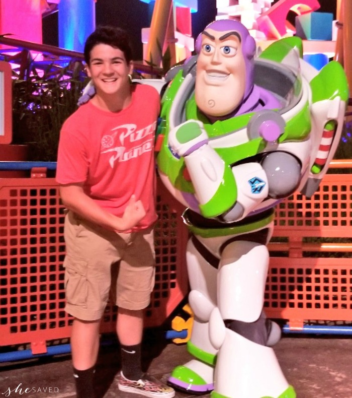 Flexing with Buzz Lightyear