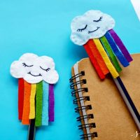Cute DIY Felt Rainbow Cloud Pen Topper Craft