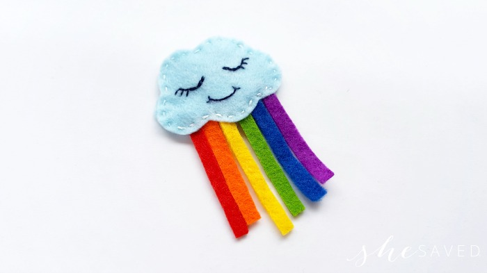 diy felt rainbow craft