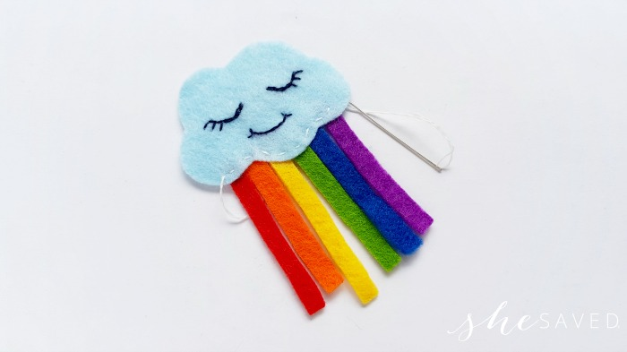 felt rainbow cloud