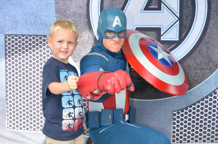 Captain-America at Disneyland