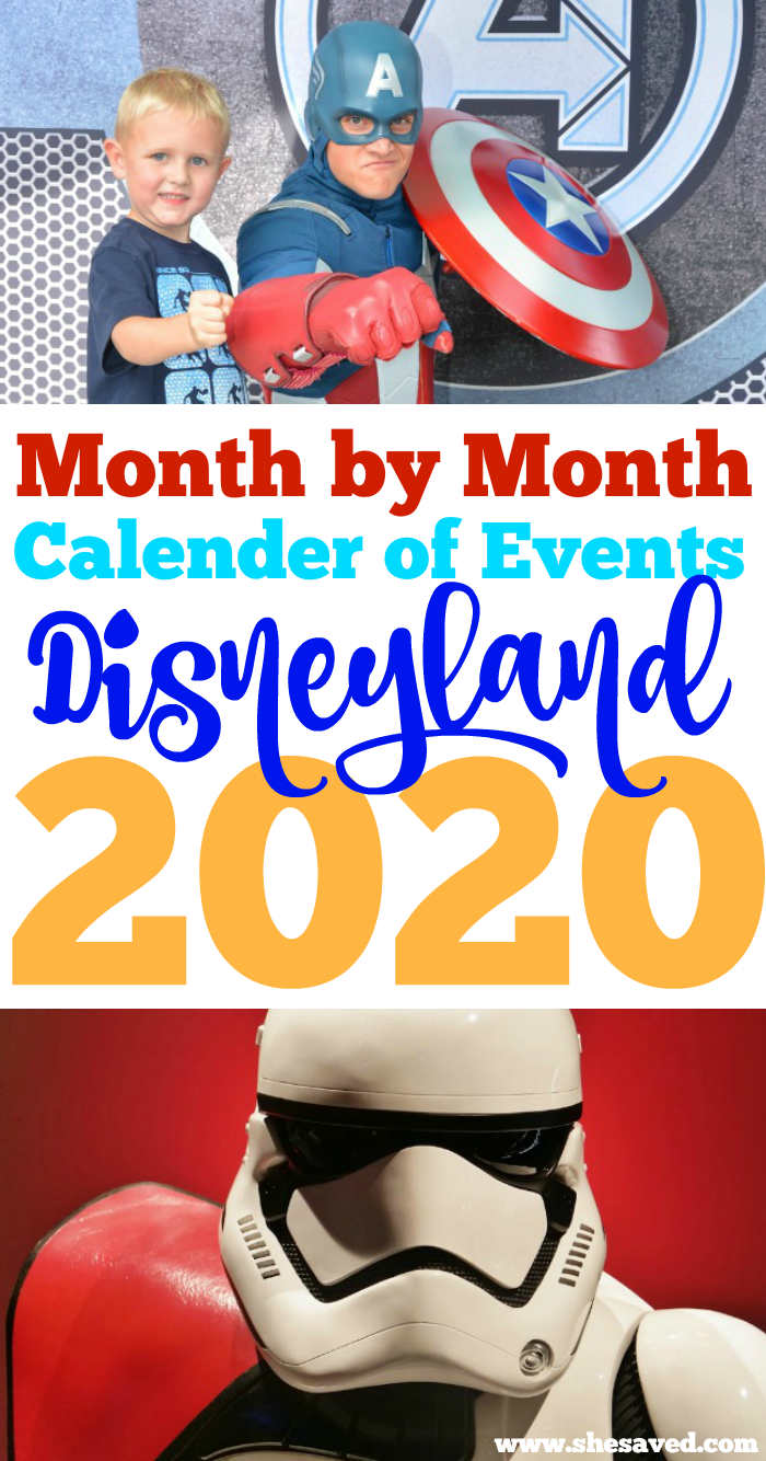 Disneyland 2020 Calendar of Events and park happenings