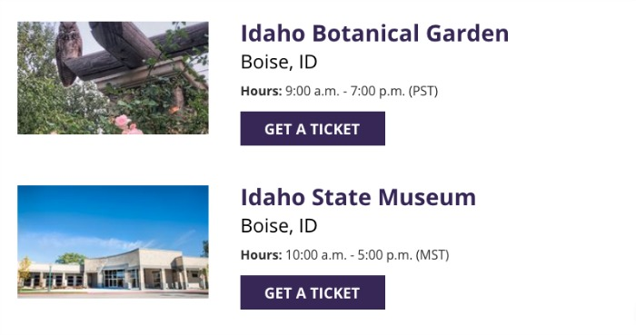 FREE Museum Admission Dates and Ticket information