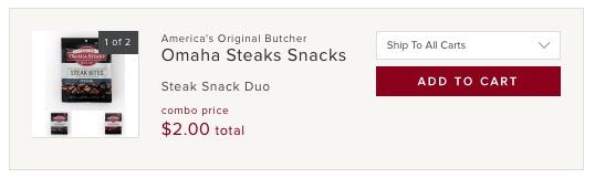 Omaha Steaks Snacks