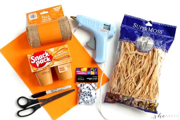 Pudding Scarecrow Supplies