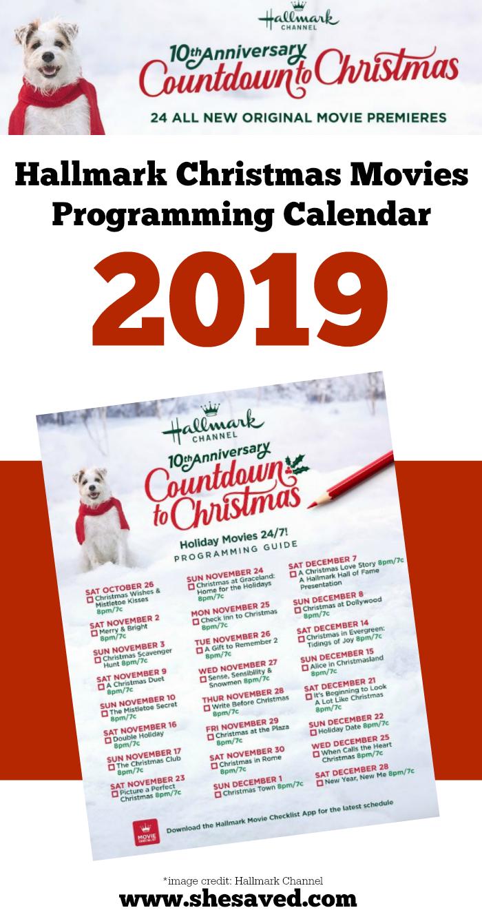 Hallmark Christmas Movie Calendar 2019