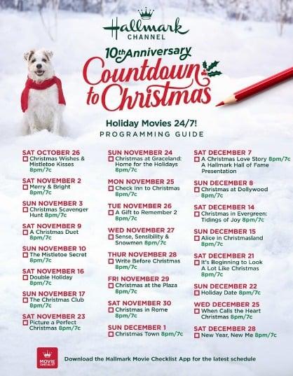 Hallmark Movie Schedule