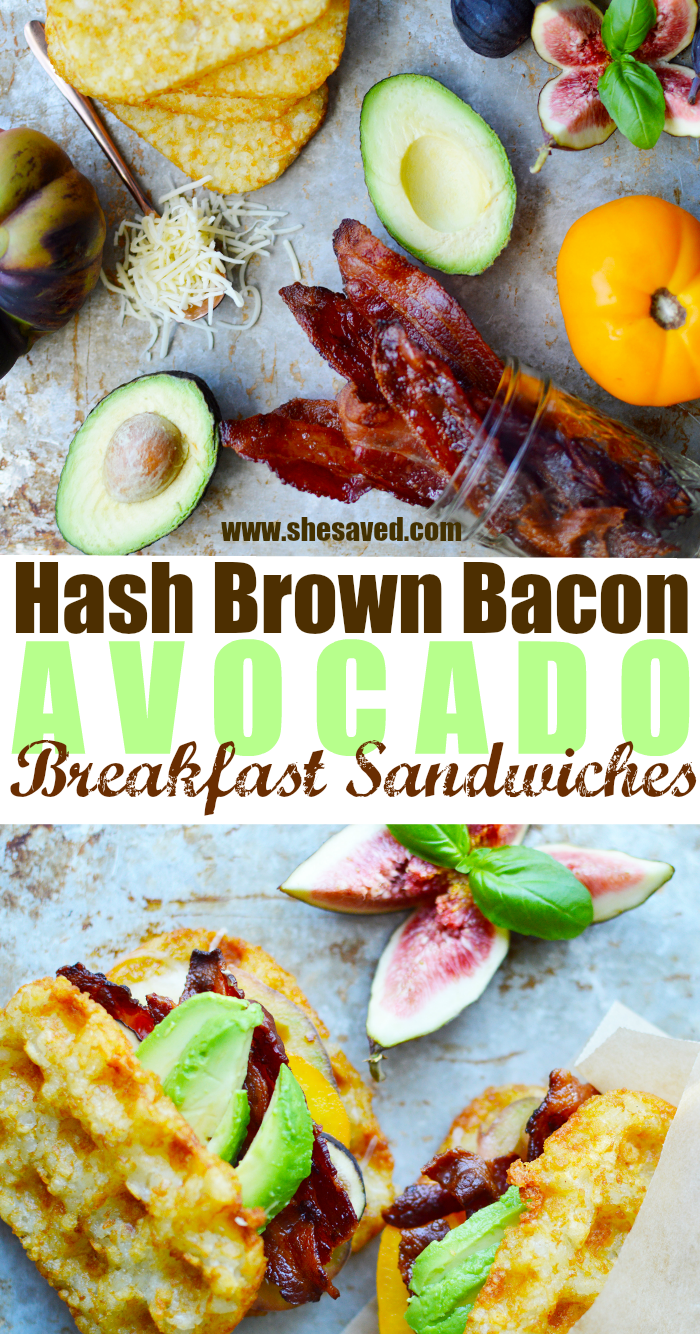 Hash Brown Bacon Avocado Sandwiches Recipe