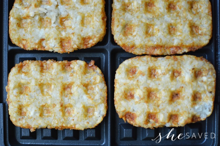 Making Hashbrowns in Waffle maker