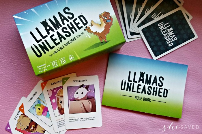 Llamas Unleashed Card