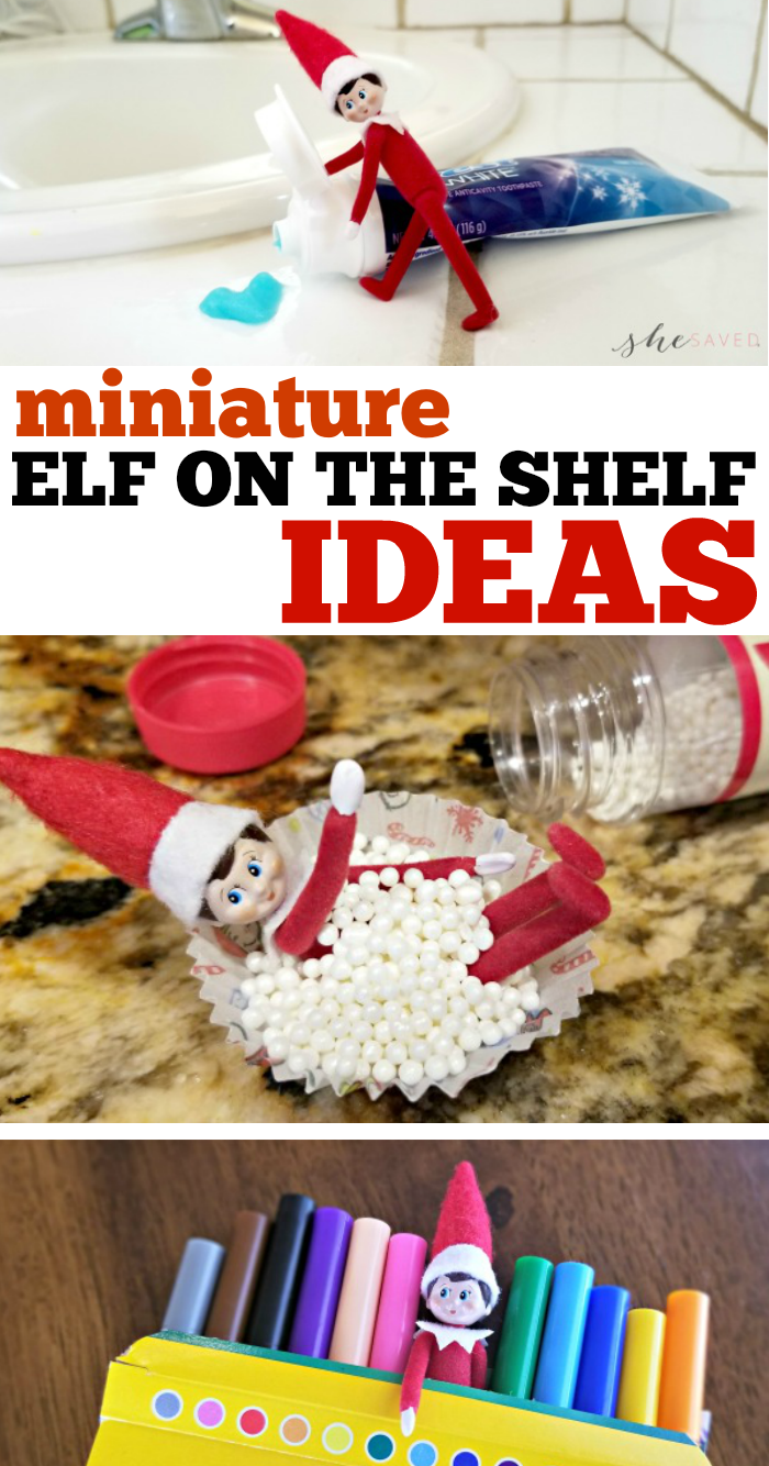 MINI Elf on the Shelf Ideas with the World's Smallest Elf on the Shelf