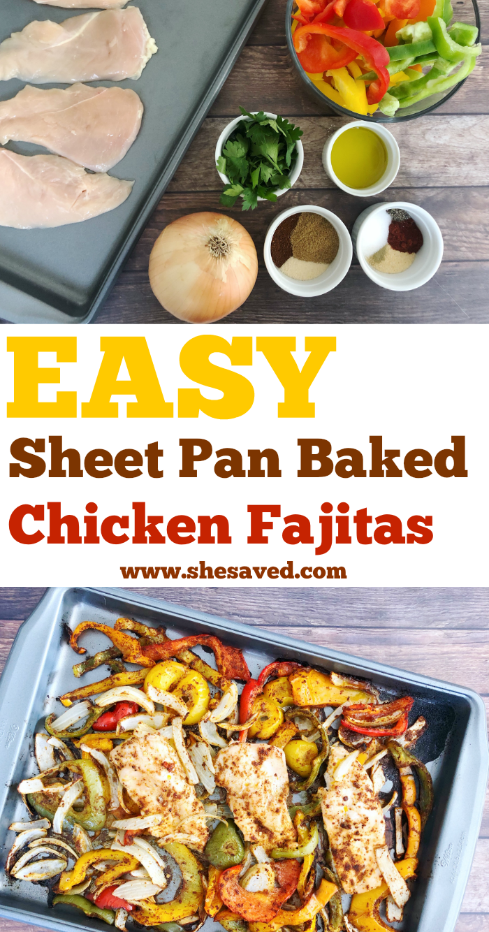 How to make Sheet Pan Baked Chicken Fajitas