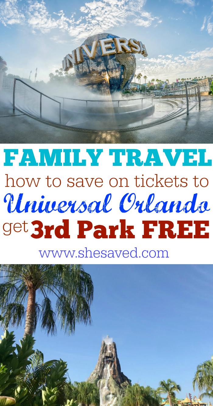 Universal Orlando 3rd Park FREE