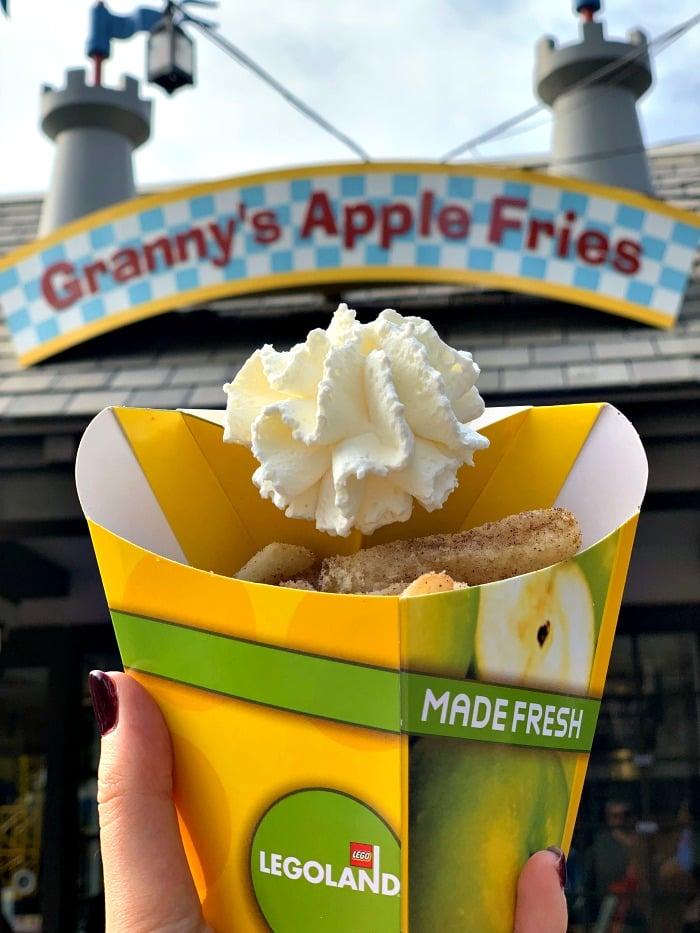 granny applie fries at legoland