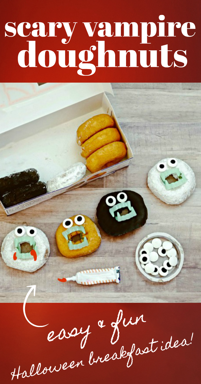 Scary Halloween Donuts with Teeth
