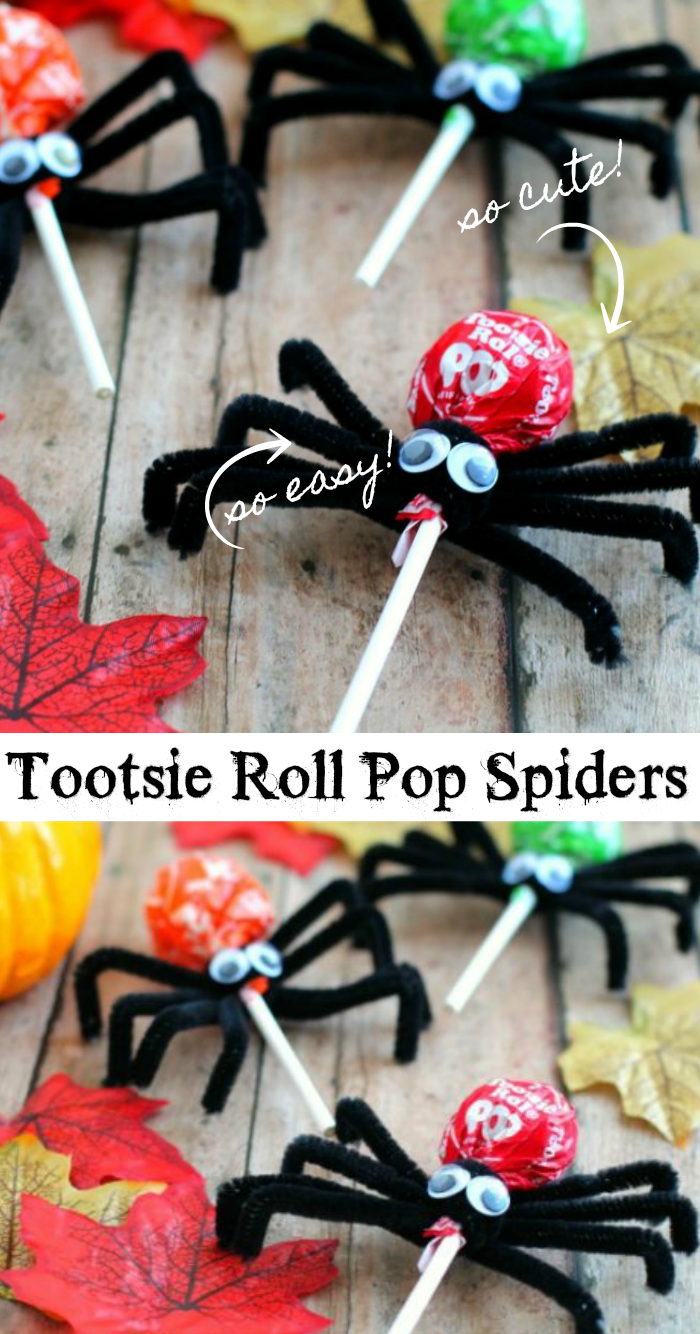 tootsie roll pop spiders