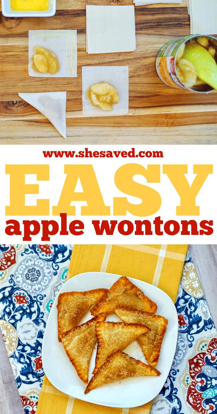Easy Apple Wontons