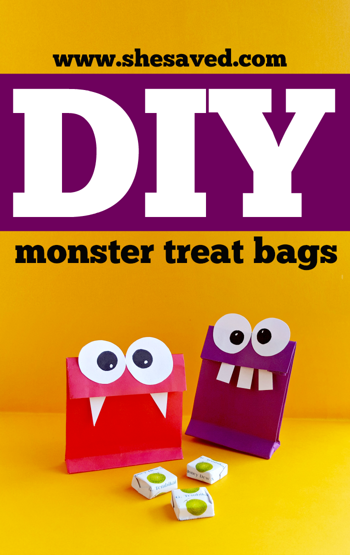 Easy DIY Monster Treat Bags