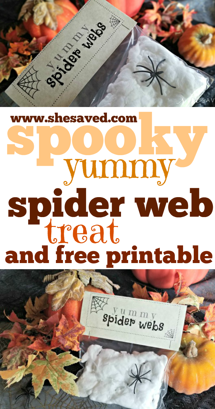 Print this FREE printable for a fun Halloween Edible Spider Web Treat