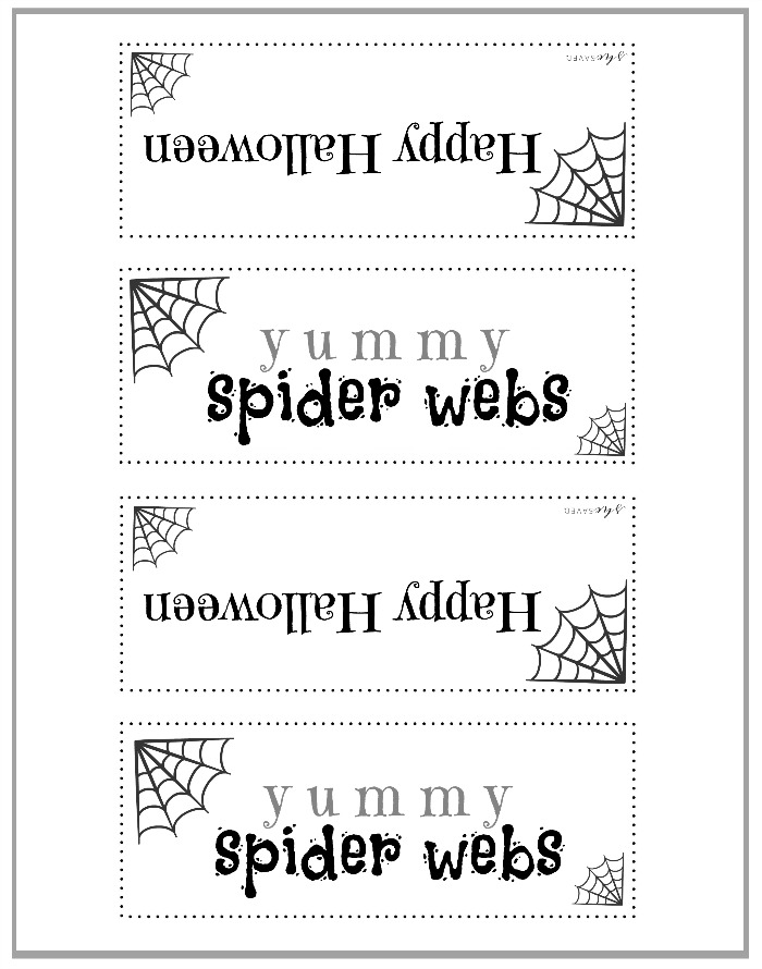 Edible Spider Web FREE Printable