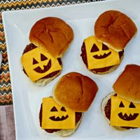 Halloween Dinner Idea: Jack-O-Lantern Burgers