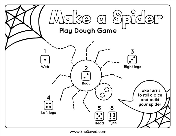 Make A Spider PlayDough Mat