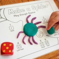 BEST Playdough Recipe + FREE Printable Playdough Mat Game for Preschoolers