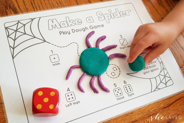 Make A Spider Playdough Printable