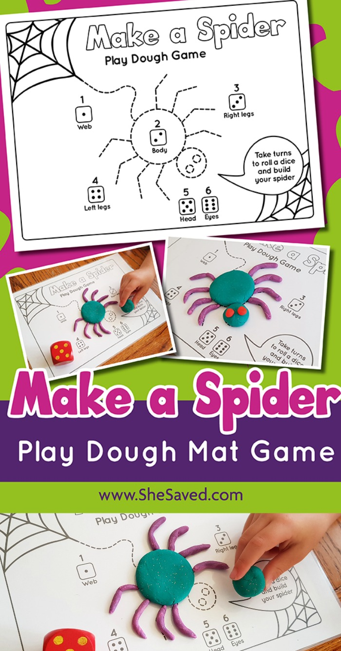Make a Spider Play Dough Game