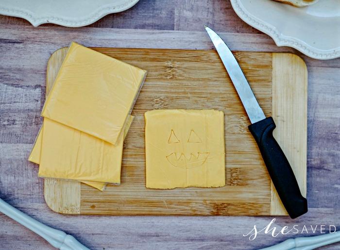 Pumpkin Face in cheese