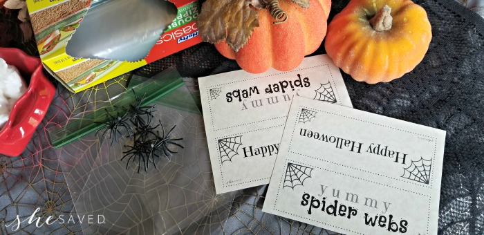 Spider Web Treat Printable
